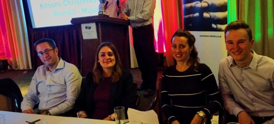 Kitsons Solicitors - Kitsons Charity Christmas Quiz - in aid of CHAD at Jasmyn House